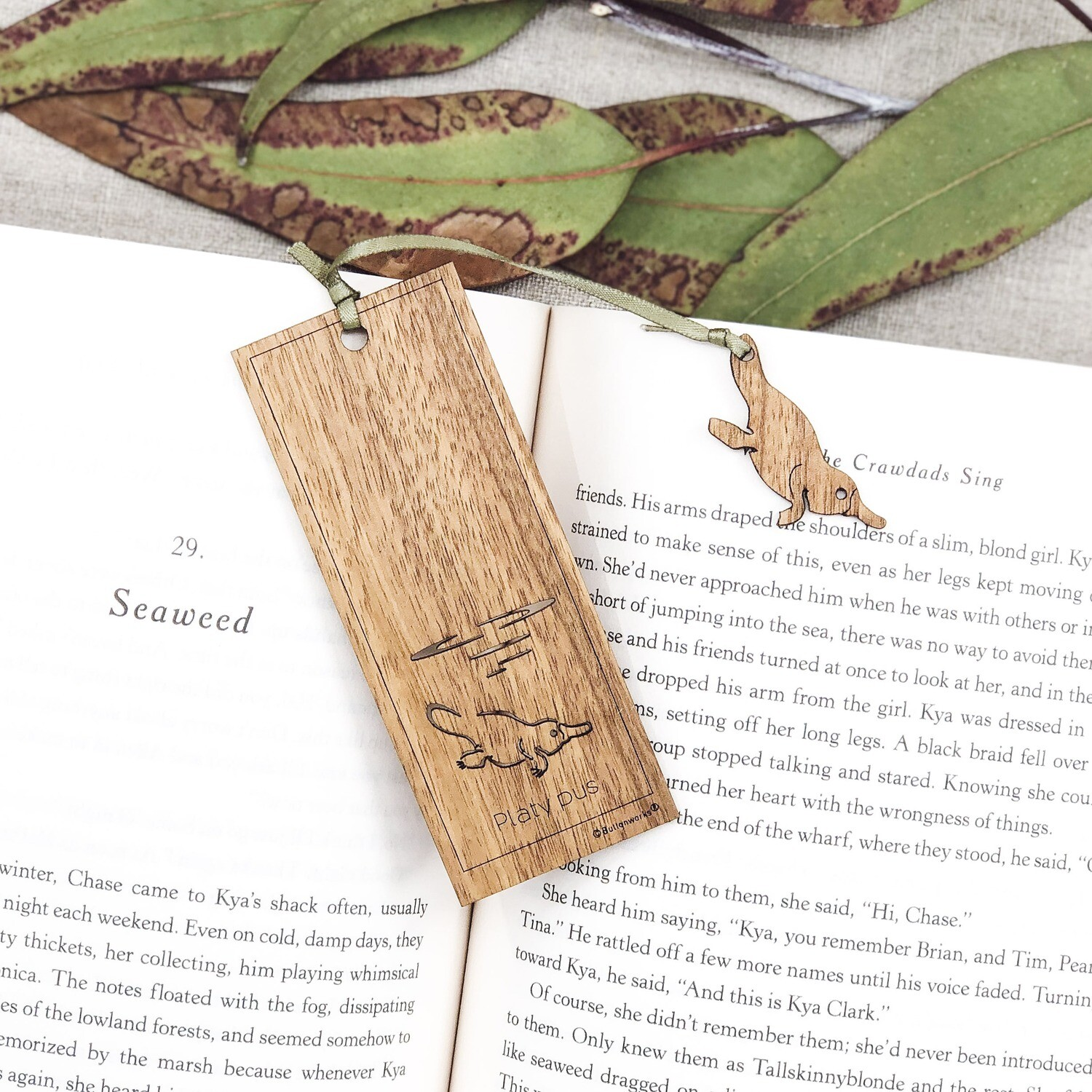 Wooden Book Mark - Platypus