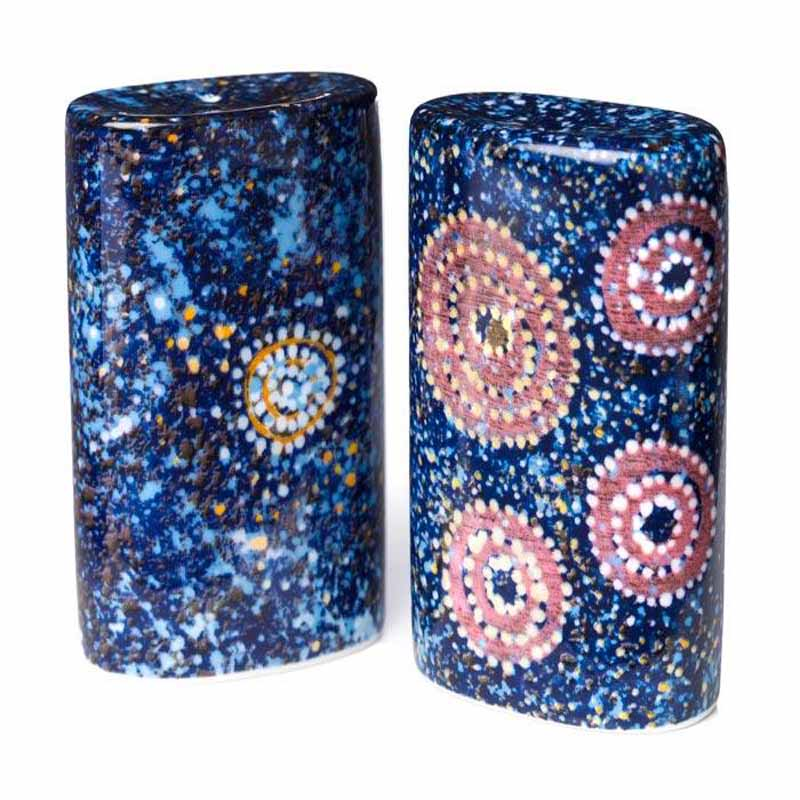 Aboriginal Art Salt & Pepper Shaker Alma G