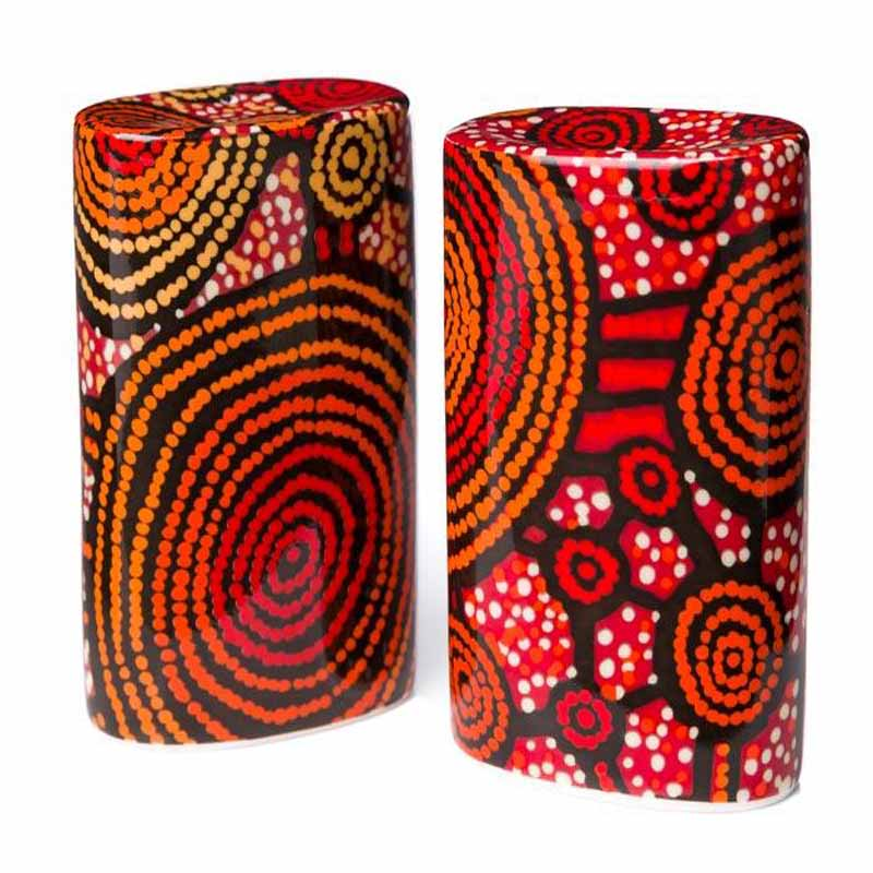 Aboriginal Art Salt & Pepper Shaker Teddy G