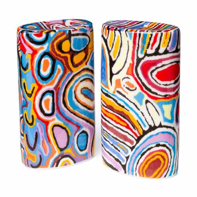 Aboriginal Art Salt & Pepper Shaker Judy W