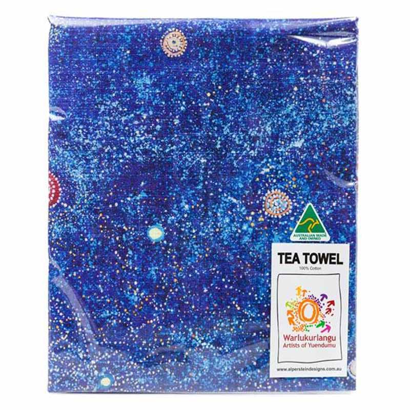 Aboriginal Art Tea Towel Alma G