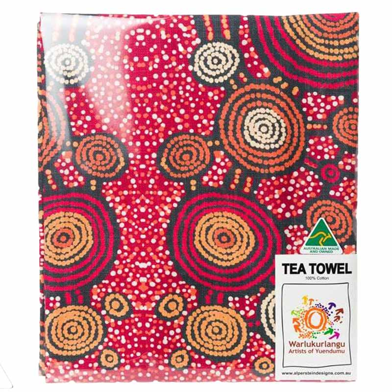 Aboriginal Art Tea Towel Teddy G