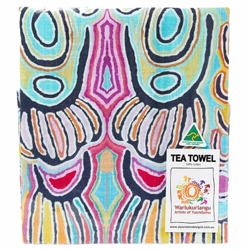 Aboriginal Art Tea Towel Juddy W