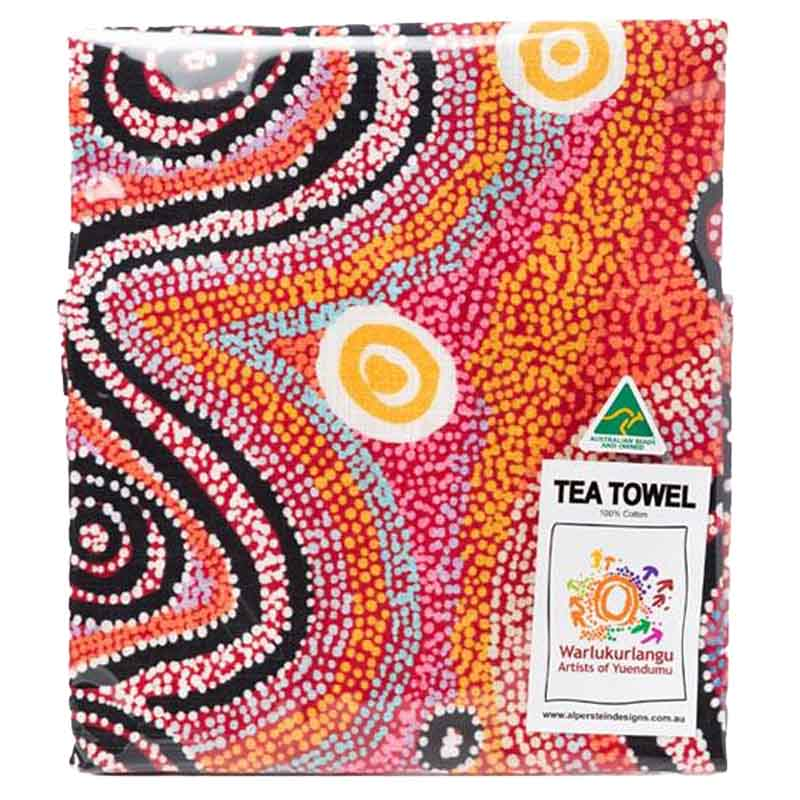 Aboriginal Art Tea Towel Otto S