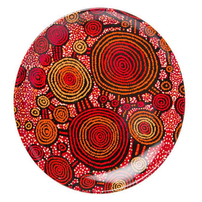"Aboriginal Art 7"" Plate Teddy G"