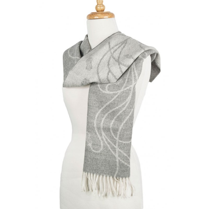 Alpaca Scarf Grey Rose