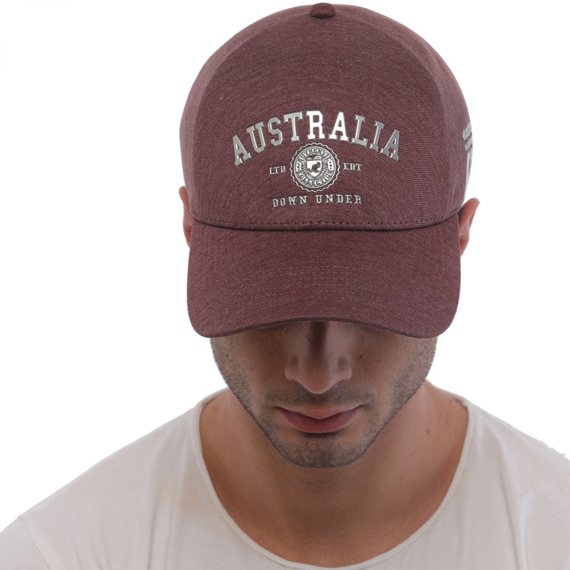 Cap Australia Dark Red
