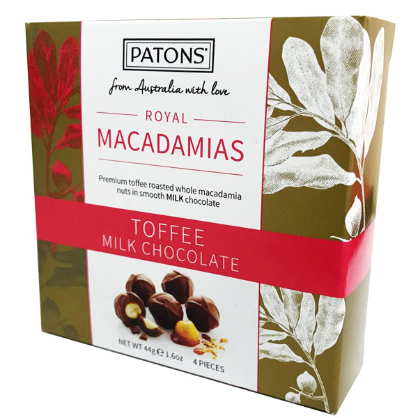 Patons Macadamia Milk Chocolate Toffee 11g x 2 pieces x 2 packs [OSMC20070]