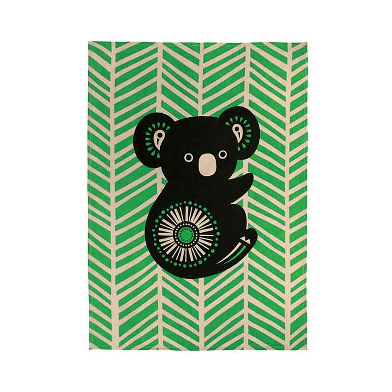 Tea Towel Koala Retro
