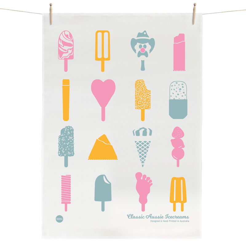 Tea Towel - Aussie Icecreams