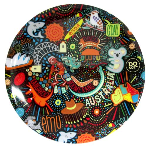 Melamine Plate Earth Collection Funky Montage