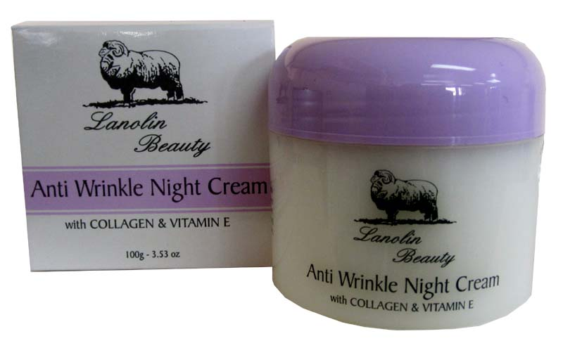 Lanolin Beauty Anti Wrinkle Night Cream 100g