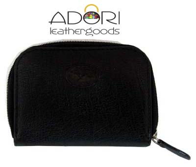 Round Zip Coin Purse Black KW3172