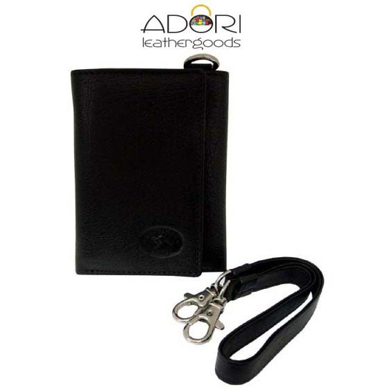 Tri-fold Wallet Black (with strap) KW3175