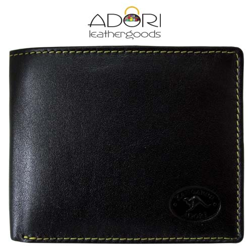 Bi-fold Wallet Black (Yellow Stitch) KWC2094