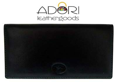 Long Wallet Black (Green Stitch) KWC2098