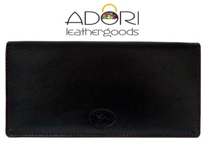 Long Wallet Black (Red Stitch) KWC2098