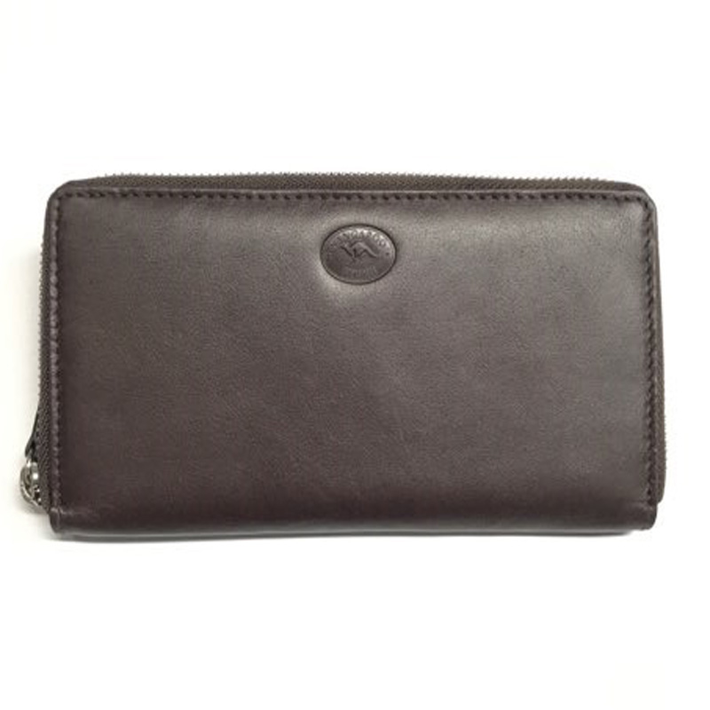 Round Zip Long Wallet Brown KW3195