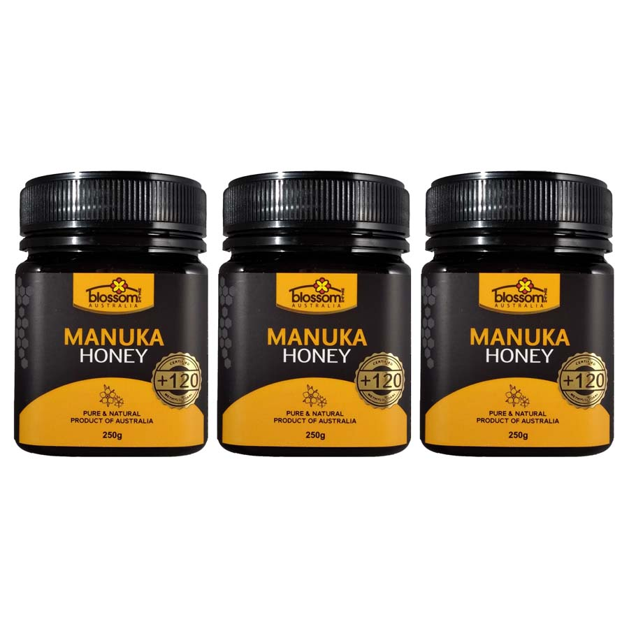 Blossom Health Manuka Honey 250g x 3 Jars (+120)