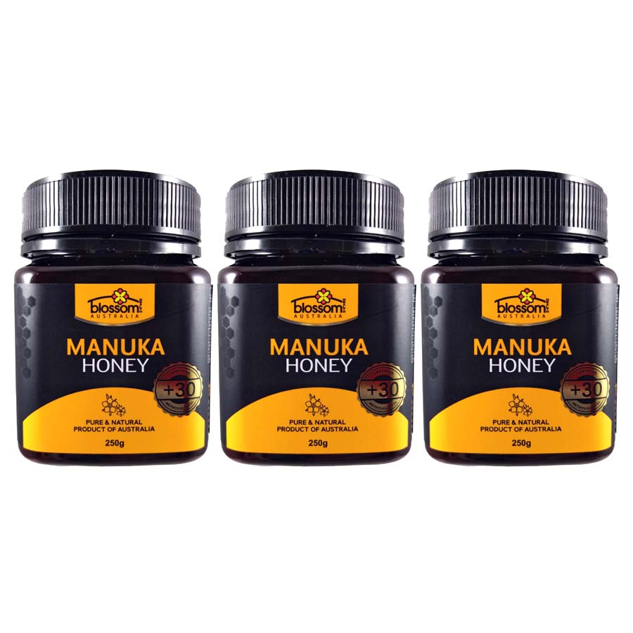 Blossom Health Manuka Honey 250g x 3 Jars (+30)