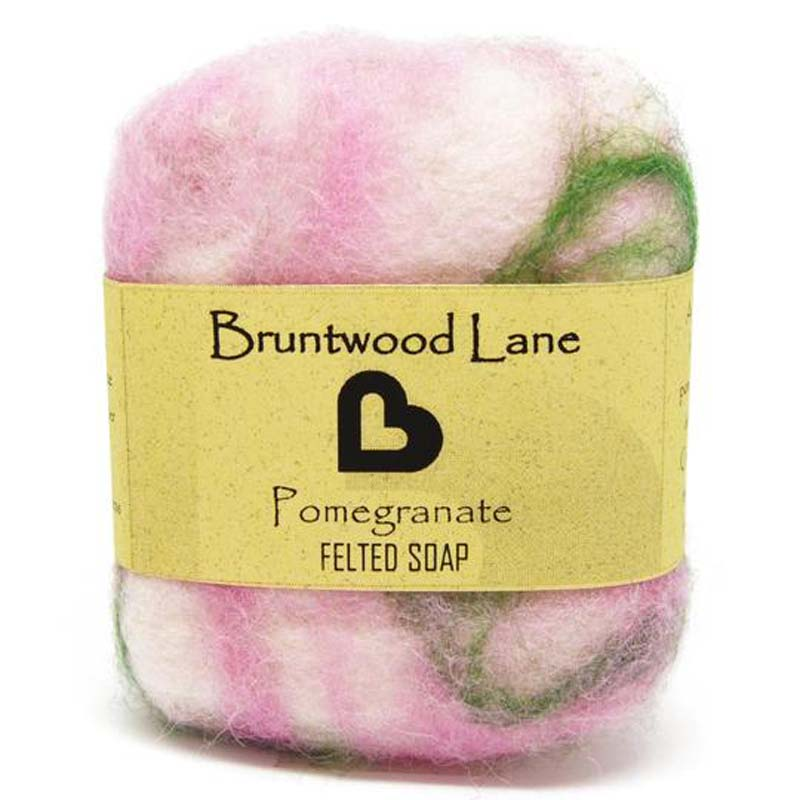 Felted Soap Pomegranate