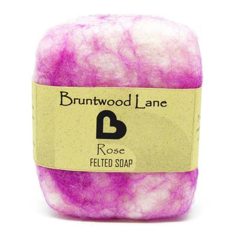 Felted Soap Rose