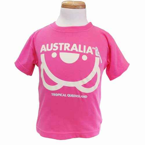 Kids Upside Down Koala T-Shirt (B Gum Pink)