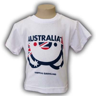 Kids Upside Down Koala T-Shirt (Flag)