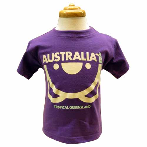 Kids Upside Down Koala T-Shirt (Purple)