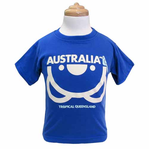 Kids Upside Down Koala T-Shirt (Royal Blue)