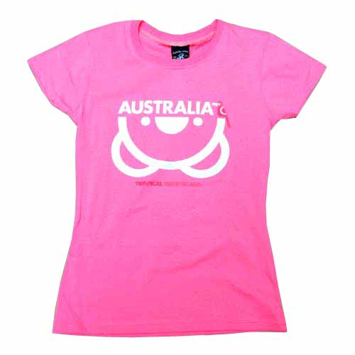 Lady's Upside Down Koala T-Shirt (Pink)
