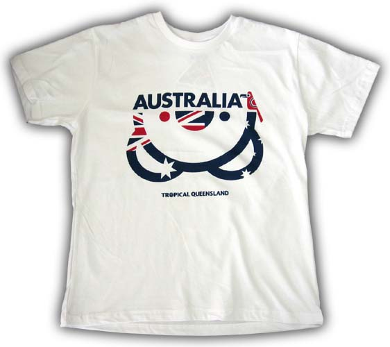 Lady's Upside Down Koala T-Shirt (Flag)