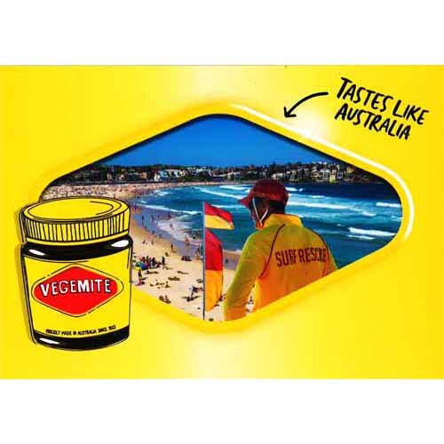 Vegemite Postcard Lifesaver